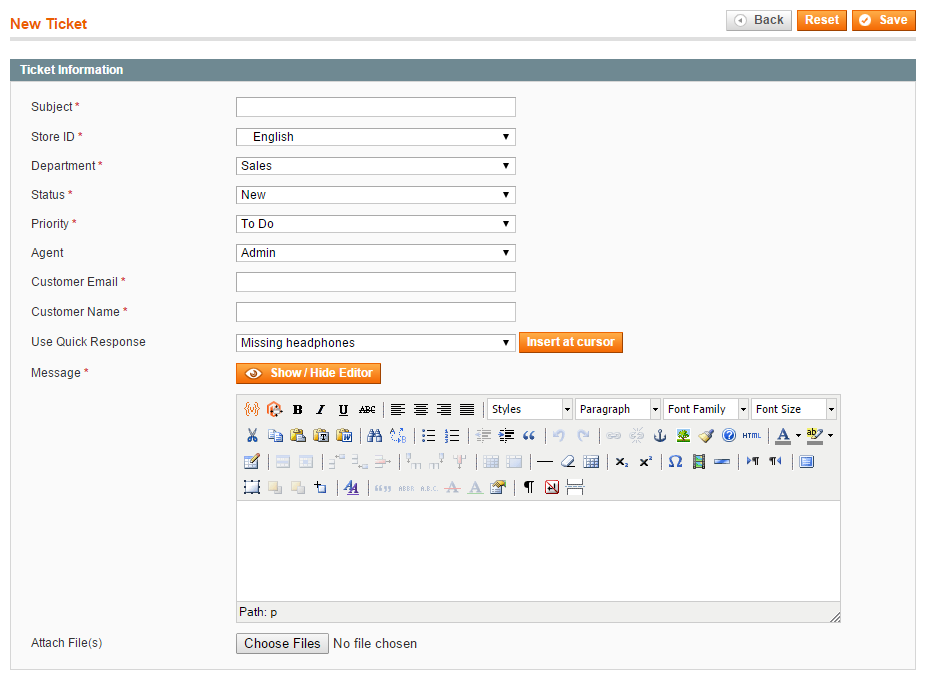 microsoft access help desk template - magento help desk extension magento ticket management